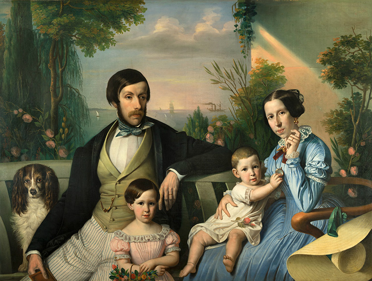 Top Pixeloose Studio, Ritratto di Pietro Stanislao Parisi con la famiglia. SB18